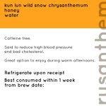 Honey Chrysanthemum Tea   niangtea.sg
