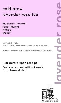 Lavender Rose Tea | niangtea.sg